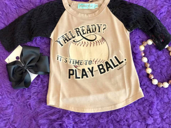Southern Grace  Fall YALL READY Its Time To Play Ball Shirt - JEN'S KIDS BOUTIQUE
