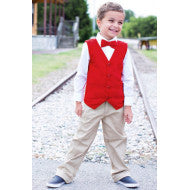 Rugged Butts Boys Red Holiday Christmas Corduroy Vest - JEN'S KIDS BOUTIQUE