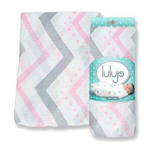 Mary Meyers Lulujo Bamboo Blanket Pink Chevron - JEN'S KIDS BOUTIQUE