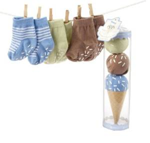 Baby Aspen Sweet Feet Three Scoops Of Socks for Baby Blue - JEN'S KIDS BOUTIQUE