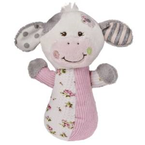 Mary Meyer Baby Cheery Cheeks Rattle,  Pink Cow - JEN'S KIDS BOUTIQUE