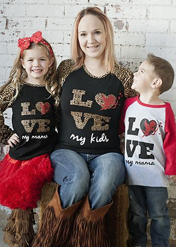 Valentines Love My Mama Raglan Boys Shirt V - JEN'S KIDS BOUTIQUE