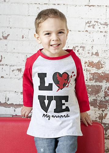 2018 Valentines Love My Mama Raglan Boys Shirt - JEN'S KIDS BOUTIQUE