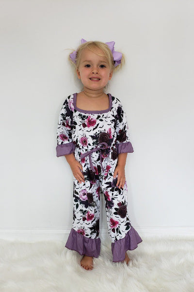 New Fall Halloween Spooky Botanical Web Girls Romper - JEN'S KIDS BOUTIQUE