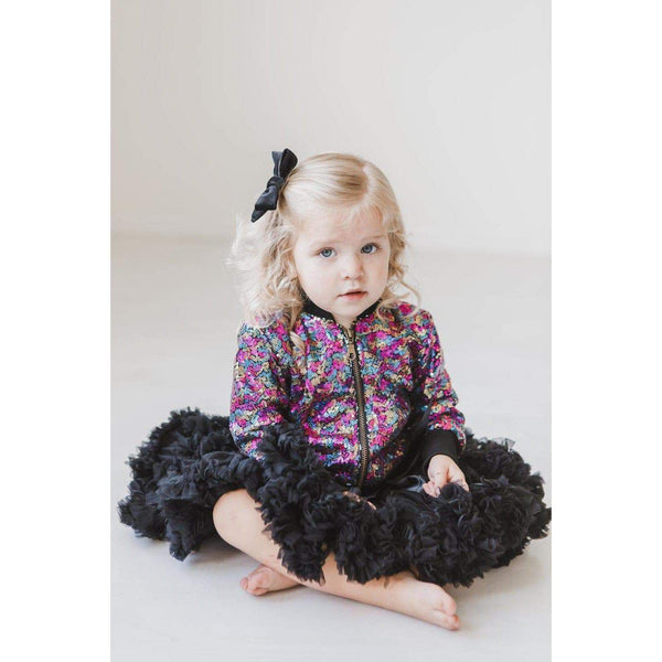 New Fall Stunning Rainbow Fun Sequin Jacket - JEN'S KIDS BOUTIQUE