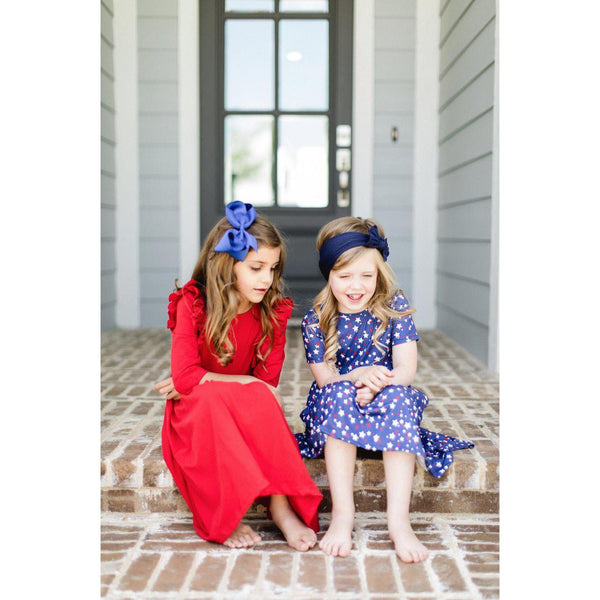 New Fall & Holiday Scarlett Red Ruffle Twirl Dress - JEN'S KIDS BOUTIQUE