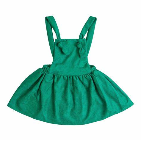 New Fall Girls Stunning Green Pinafore Dress. - JEN'S KIDS BOUTIQUE