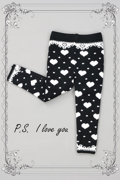 New Fall Black Thick Thermal Leggings-HEARTS - JEN'S KIDS BOUTIQUE