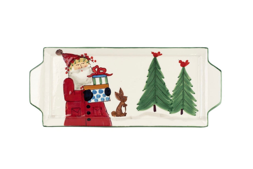 Old St. Nick Handled Rectangular Platter
