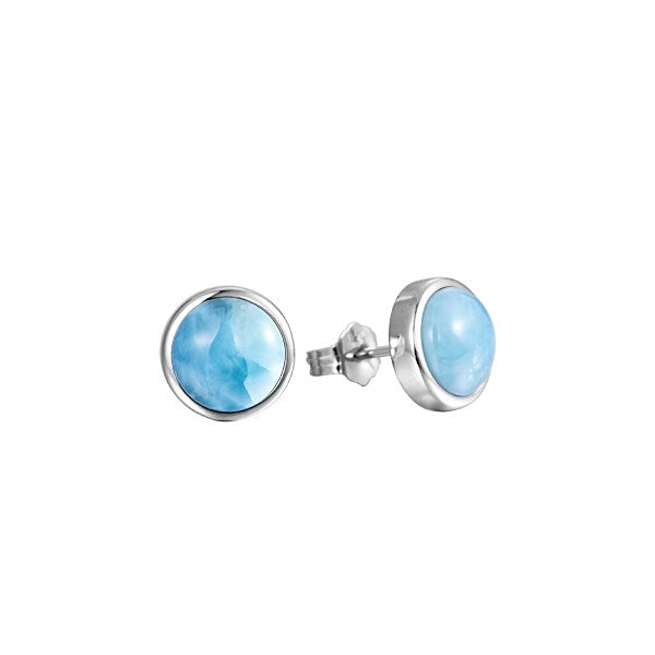 Alamea SS 10mm Larimar Stud Earrings