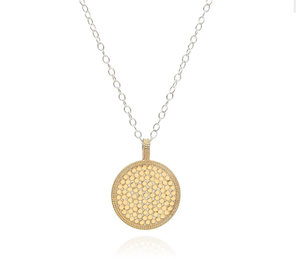 Anna Beck Hammered Pendant Necklace - Gold & Silver