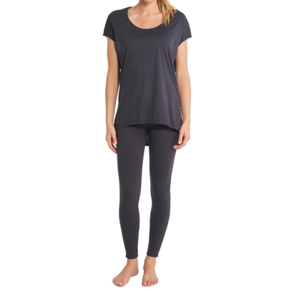 BareFoot Dreams MALIBU COLLECTION® WOMEN'S SCOOP NECK TUNIC CARBON