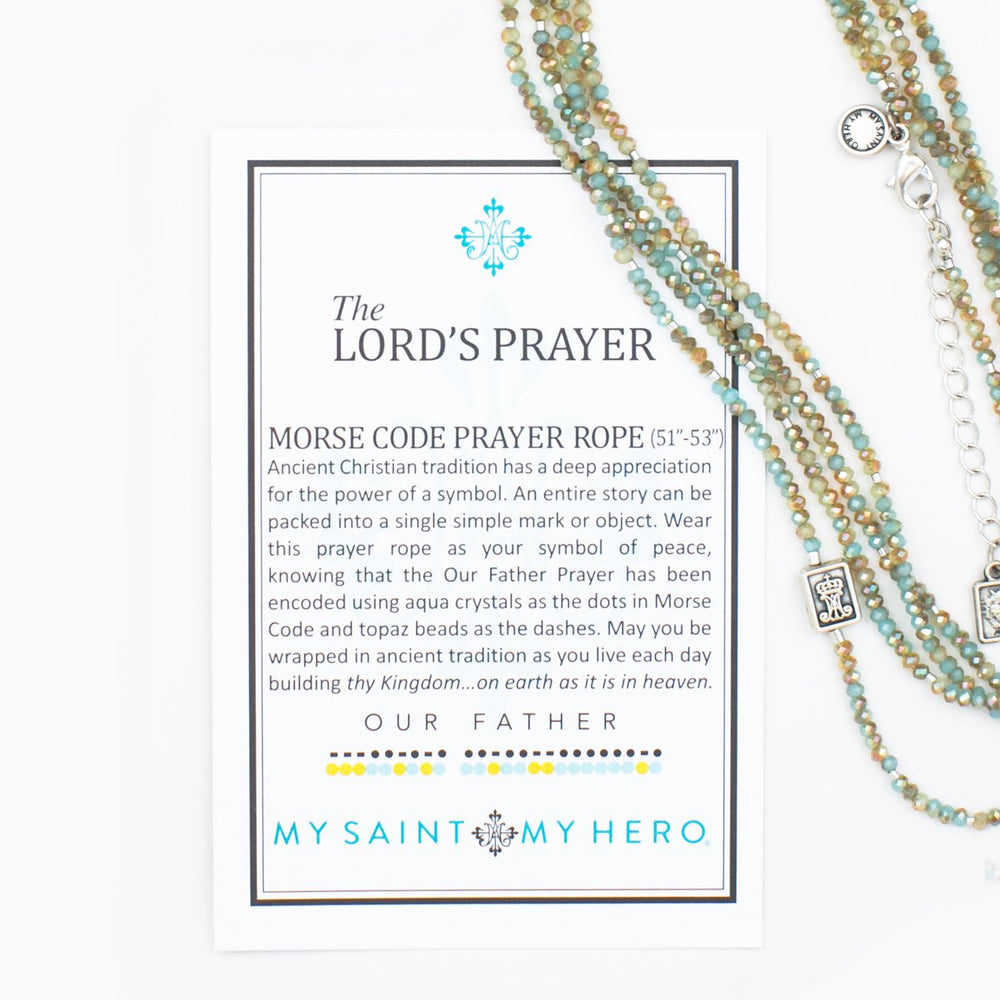 The Lord's Prayer Morse Code Necklace