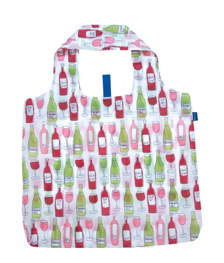Wine Reusable Shopping Bags - Machine Washable set of 2