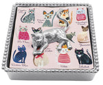 Mariposa Cat Beaded Napkin Box