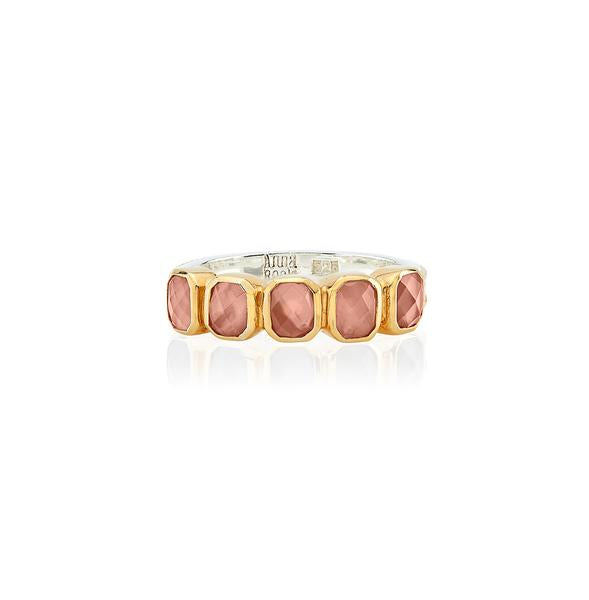 Anna Beck Peach Quartz Multi Stone Ring