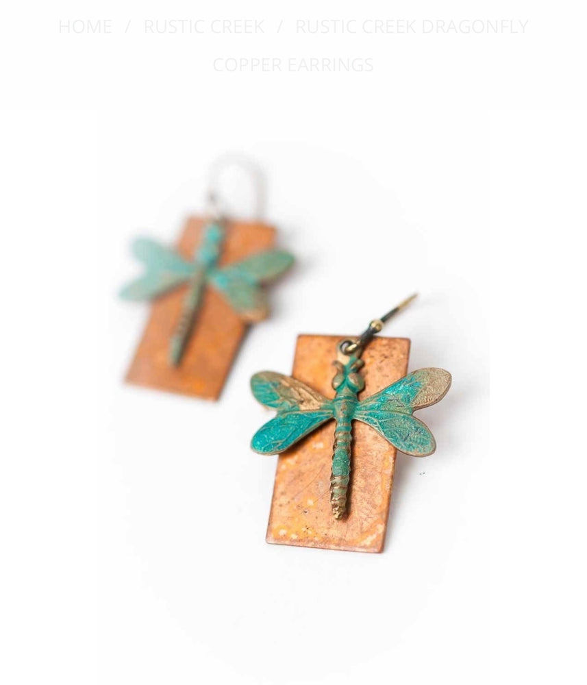 RUSTIC CREEK DRAGONFLY COPPER EARRINGS