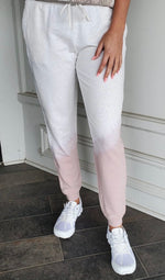 Barefoot Dreams MC Luxe Lounge Shoreline Pant in White/Soft Pink