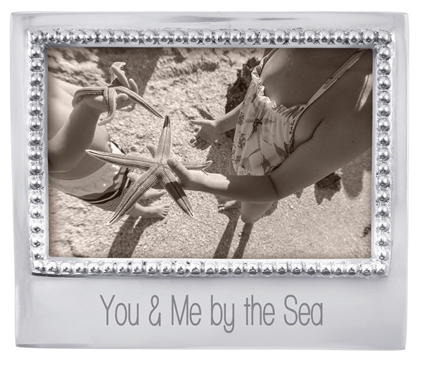 You & Me By the Sea Beaded 4 x 6 Frame