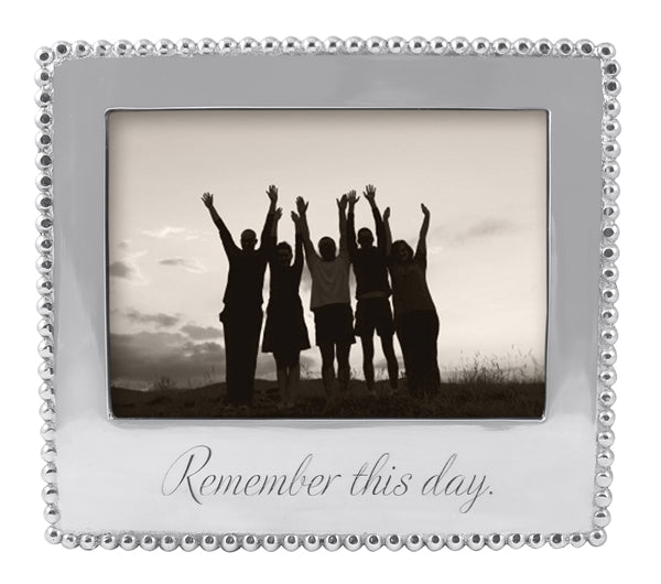 Remember This Day Beaded 5 x7 Frame
