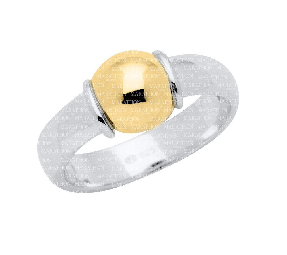 Sterling Silver Cape Cod Ring With 14K Gold Bead