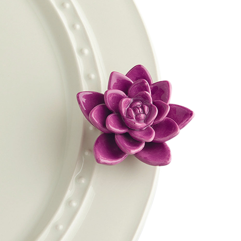NEW Nora Fleming Get Growing- Purple Succulent Flower