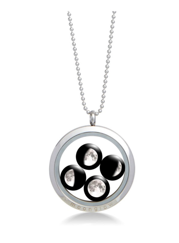 Moonglow Large Family Locket Necklace