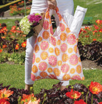 Citrus Red Reusable Shopping Bags - Machine Washable set of 2