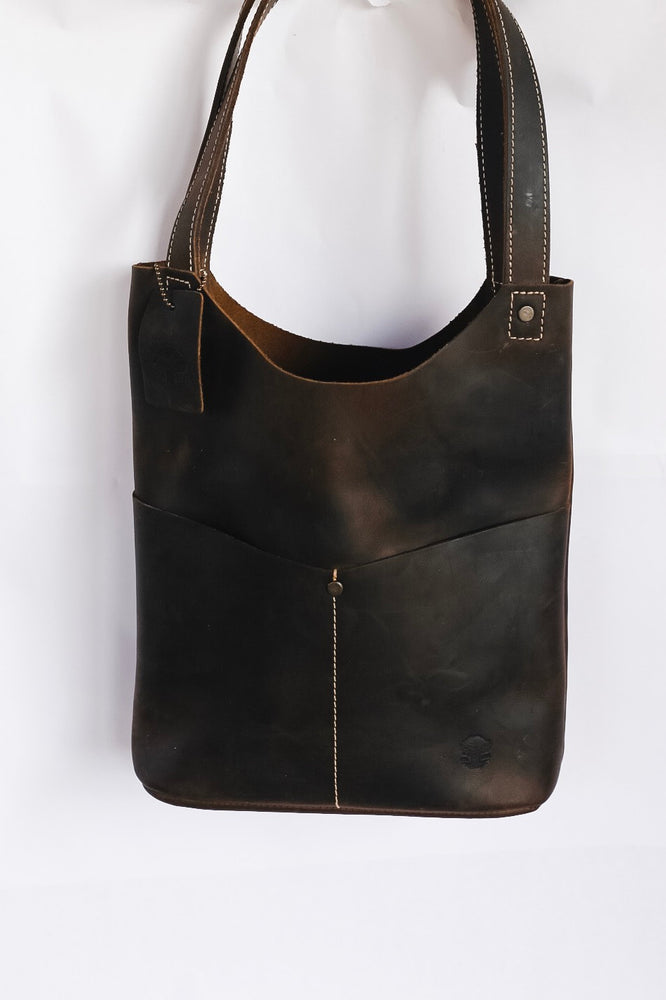 Oak River Exclusive Leather Mini Tote Chocolate