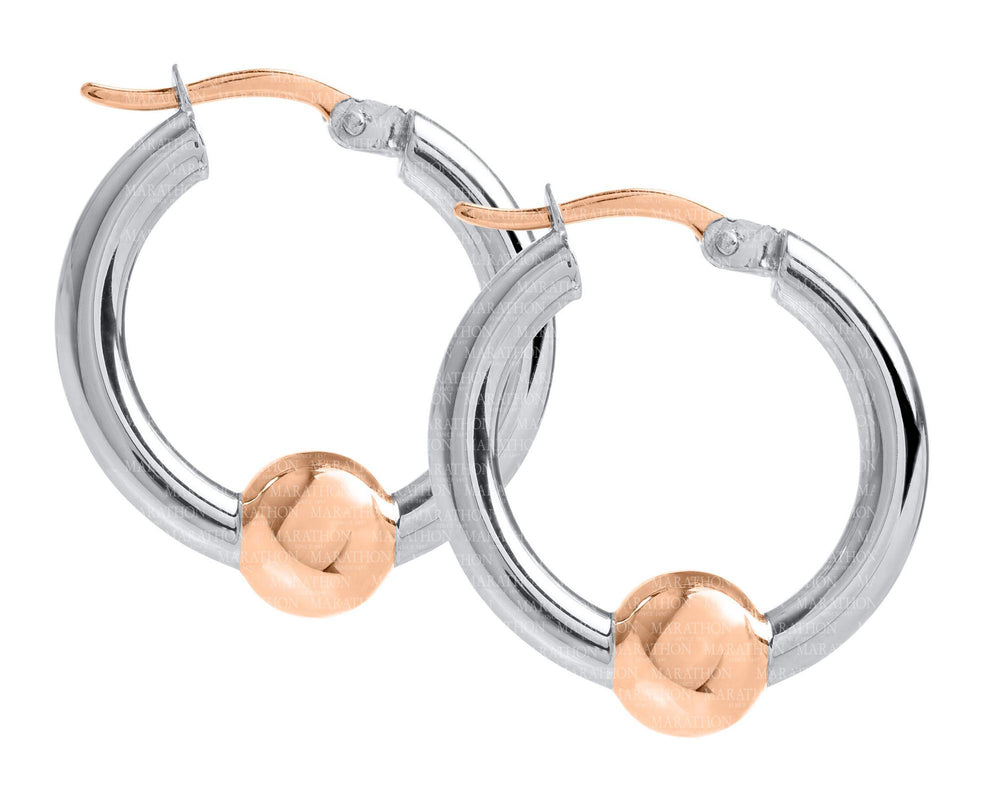 Cape Cod Sterling Silver Earring With 14K Rose Gold Bead