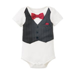 BABY BOY FIRST FORMAL ONESIE 6-12 MONTHS