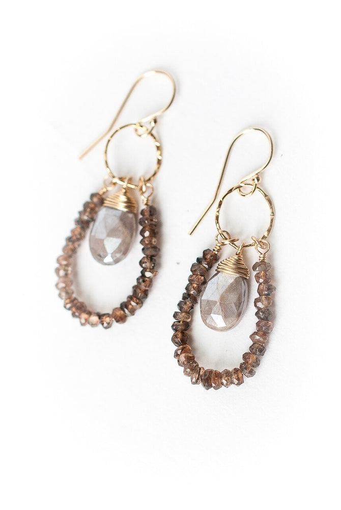 SEVENLY MOONSTONE HOOP EARRINGS
