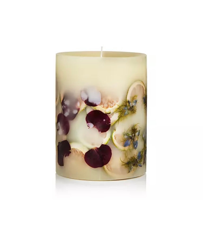 "Lavender Spa 6.5 "" Round Botanical Candle"