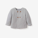 SOFIA & FINN GRAY KNIT BABY CARDIGAN GRAY