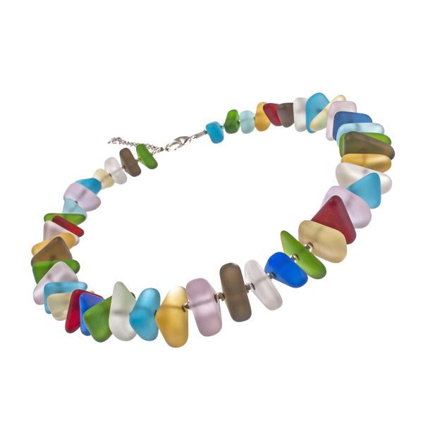 Rainbow Frosted Glass Choker