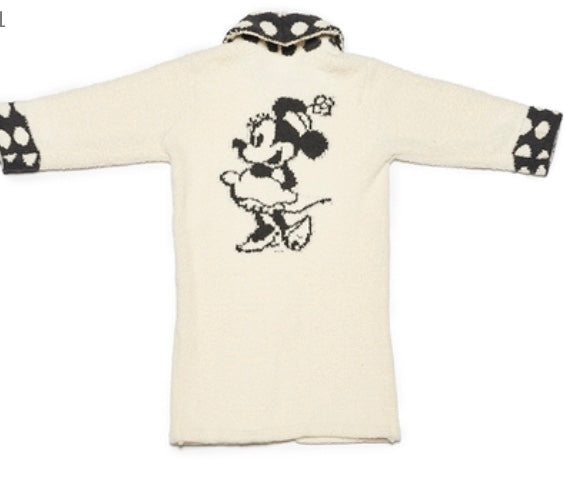 BareFoot Dreams Cozychic Classic Youth Minnie Mouse Robe