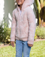 BAREFOOT DREAMS the COZYCHIC® TODDLER CAMO ZIP UP HOODIE DUSTY ROSE MULTI