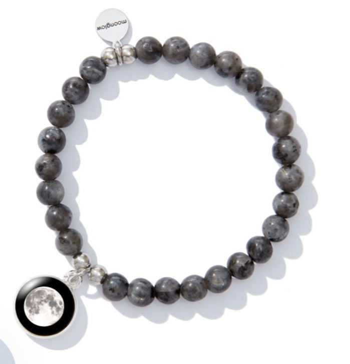 Moonglow Laborite Beaded Bracelet