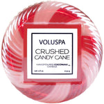 Crushed Candy Cane Candle Glass 1.8 OZ Glass Jar