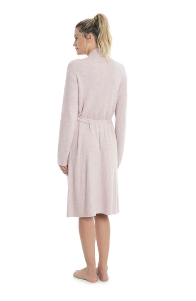 BareFoot Dreams Cozychic Lite Ribbed Robe Faded Rose Pearl