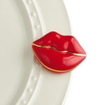 NEW! Red Lips w/gold outline -Smooches Mini