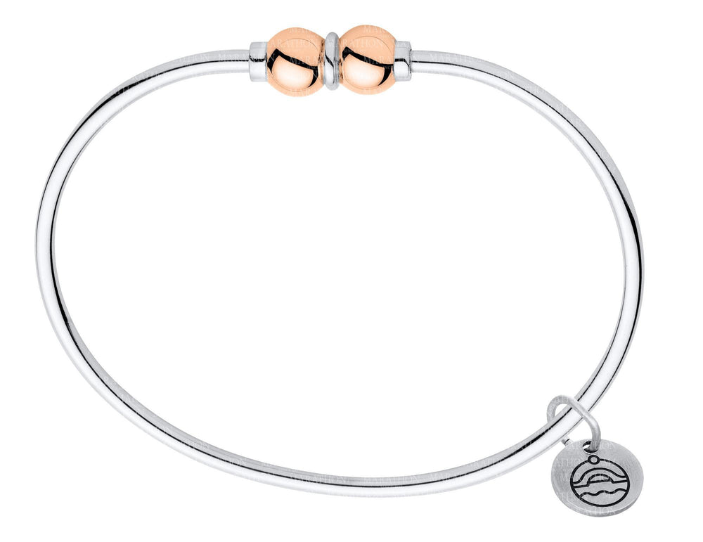 Cape Cape Cod Bracelet Sterling Silver With Rose Gold Double Bead