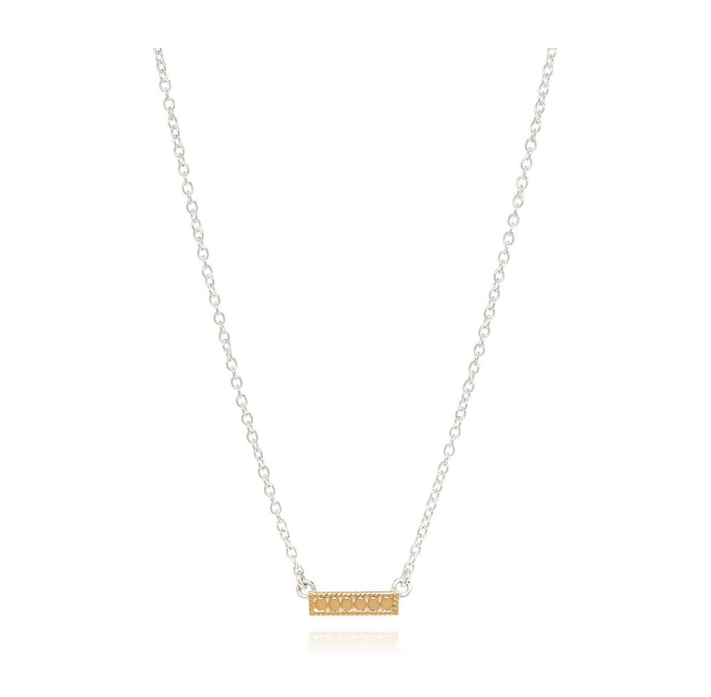Anna Beck Mini Bar Necklace Gold / Engravable SS Back