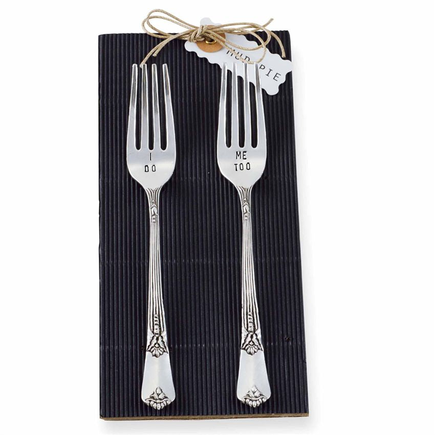 Mud Pie Wedding Forks (Set of 2)