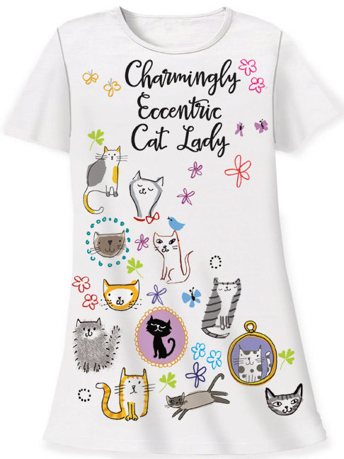 Eccentric Cat Sleep Shirt