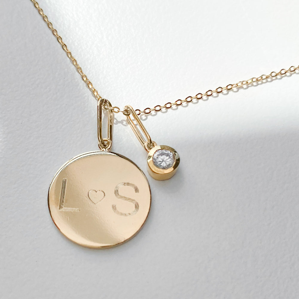 Thatch Custom Engravable Balia Disc Necklace