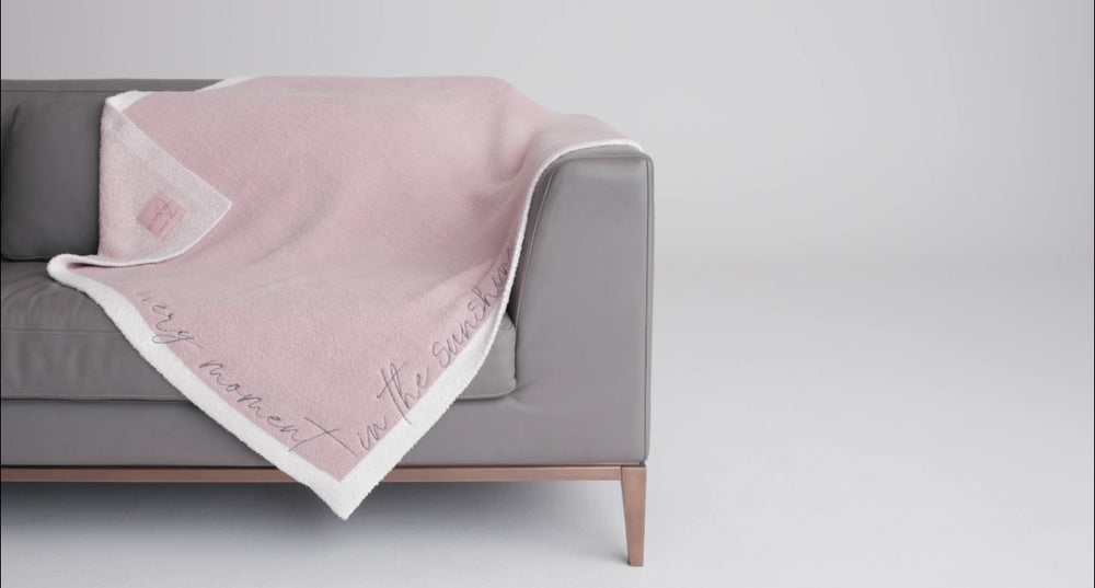 CozyChic Inspiration Embroidered Blanket Live Every Day in the Sunshine