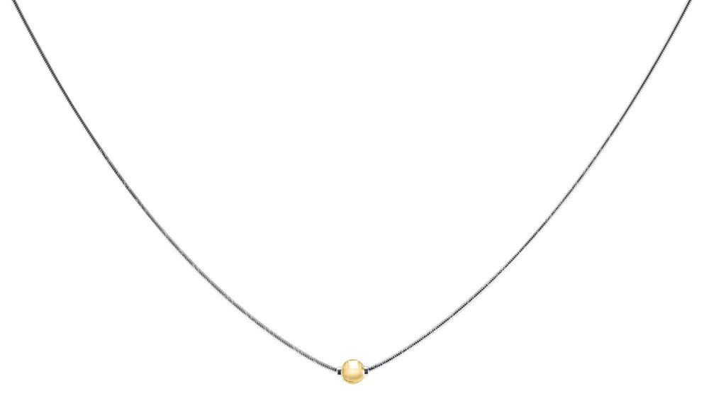 Cape Cape Cod Necklace Sterling Silver with Gold Bead