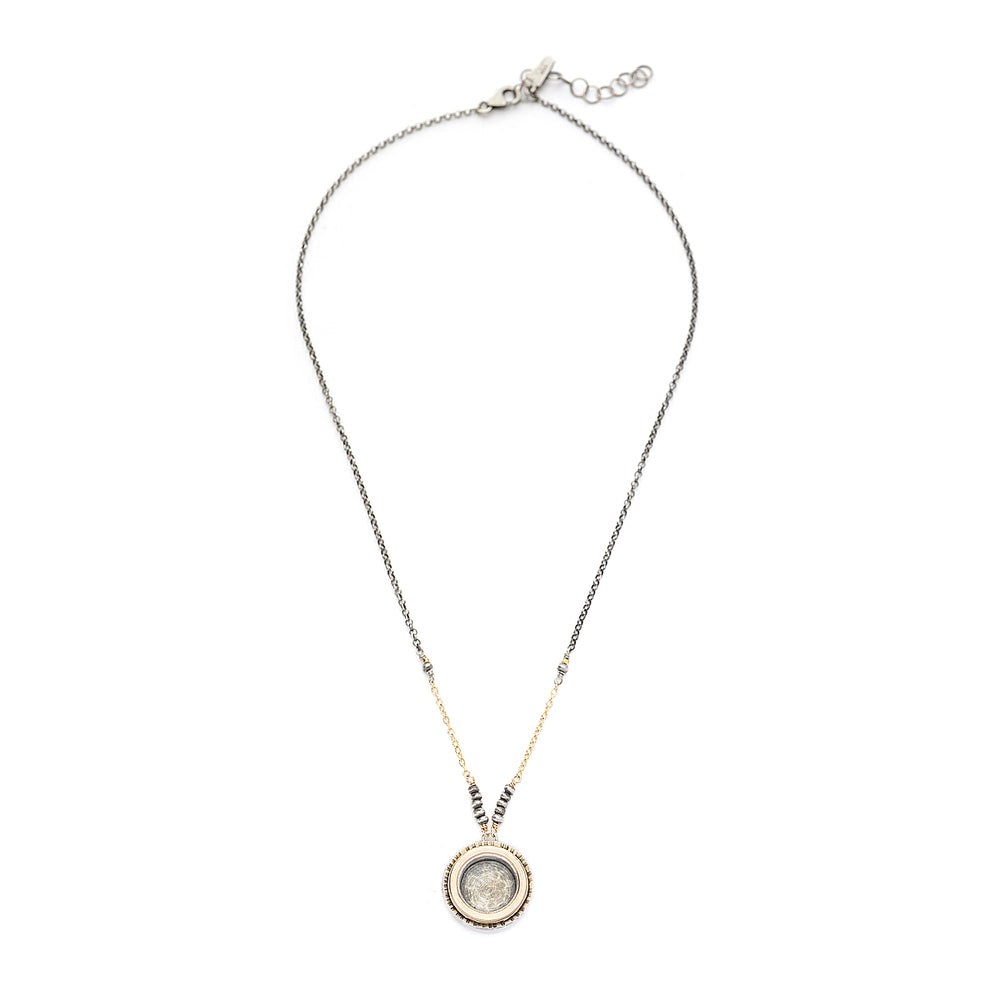 Heavy 14kt Goldfill Circle Necklace