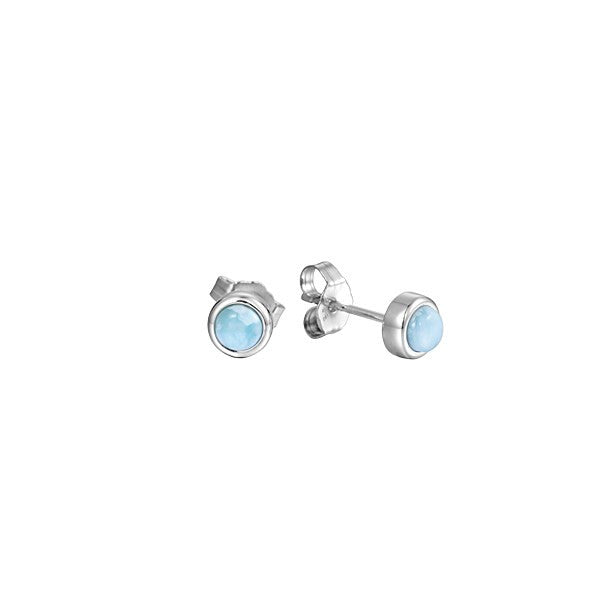 Alamea SS 6mm Larimar Stud Earrings